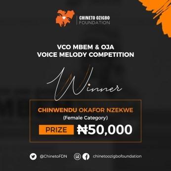 Valentine Ozigbo Mbem Contest